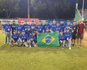 Seleção de Softbol Masculino que disputou o X Campeonato Pan-americano
