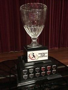 Troféu de campeão da Copa Pacifico-asiática