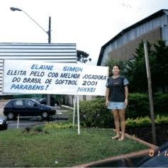 Elayne Simon, conta sua história de paixão pelo Softbol