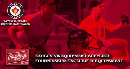Rawlings fornecedora Softball Canada